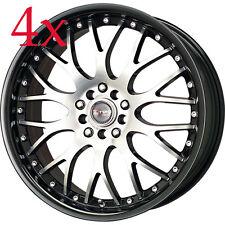 Drag Wheels DR-19 17x7.5 5x100 5x114 Black Lip Machined Face Rim For Eclipse DSM