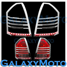 05-07 Chrysler 300+300C Chrome Taillight Tail Light Trim Bezel+RED LED Cover