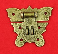 Chinese Old Lock Latch Butterfly Buckle Clasp For Vintage Cabinet Jewelry Box