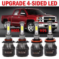 9005 + H11 For Chevrolet Silverado 1500 2008-2015 4X LED Headlight Kit High Low