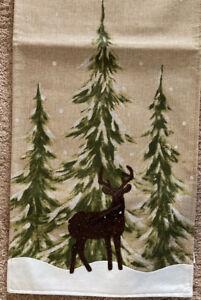 "Deer in Winter Table Runner 14"" x 72"" ....Christmas"