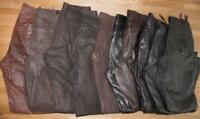 10 LEDERJEANS bzw. Schnür- Lederhose (n) versch. Größen Ledersorten und Farben