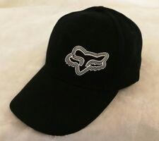 FOX Adjustable Strapback Baseball Cap Black & White: One Size Fits Most