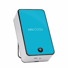 Blue Mini Portable USB Rechargeable Hand Held Air Conditioner Summer Cooler Fan