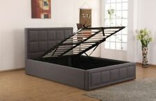 Sweet Dreams Sia Single 90cm 3FT Grey Fabric Ottoman Storage Bed Frame