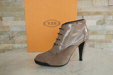 Tods Tod´s Plateau Stiefeletten  36 Ankle Boots Booties Schuhe beige neu UVP390€