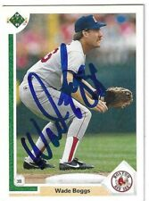 Wade Boggs Signed 1991 Upper Deck Card / Autographed IN PERSON
