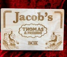 Thomas and Friends Minis storage Box Wooden Engraved & Personalised