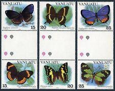 Vanuatu 346-348 gutter,MNH.Michel 644-649. Butterflies,1983