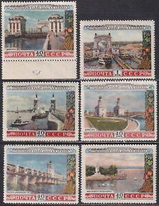 1953 Soviet Russia USSR CV$25 Mi 1669-74 MNH**