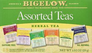 Bigelow Assorted Herbal Teas, Tea Bags, 18 Ct