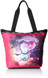 LeSportsac Women's X Peanuts Snoopy Classic Hailey Tote Bag in Galaxy Snoopy