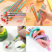 50pcs Soft Flexible Bendy Pencils Magic Bend Kids Children School Fun Equipment