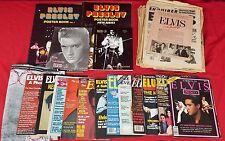 Lot - Vintage Elvis Memorabilia - Newspapers, Magazines, Poster/Photo Books