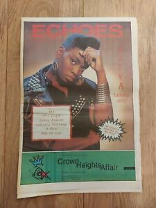 ECHOES MAGAZINE 4 NOVEMBER 1989 ADEVA MC LOGIK LENNY KRAVITZ D-NICE ONE ON ONE