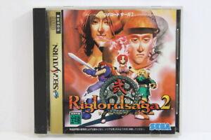 Riglord Saga 2 W/ Data Sheet SEGA Saturn SS Japan Import US Seller G7864