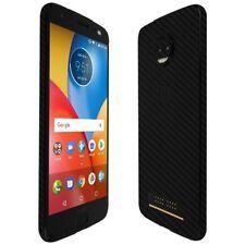 Skinomi Black Carbon Fiber Skin+Screen Protector for Motorola Moto Z2 Force