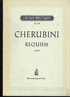 CHERUBINI : REQUIEM c-Moll - Klavierauszug mit Text