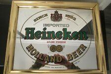 """Vintage Brytone Mechanical Mirror Works """" Heineken Mirror"""""""