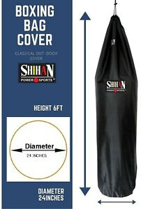 Outdoor Punch Bag Cover Rain Cover Boxing Bag DUSTPROOF  5-6ft X24inch Diameter