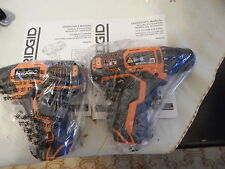 New Ridgid 12V R82005 & R82230 Impact Driver And Drill Driver Bare Tools Only