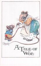 """Vintage Postcard, Dressed Mice - Artist Lillian. A. Govey  """" A Tale of Woe """""""
