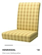Ikea HENRIKSDAL Yellow Check Chair Cover
