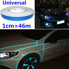 Blue  Car Reflective Body Rim Stripe Sticker DIY Tape Self-Adhesive 1cm 150 feet