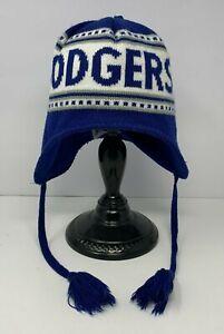 Los Angeles Dodgers Women's Blue & White MLB Beanie w/ Ear Overlaps OSFM