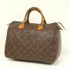 Authentic LOUIS VUITTON SPEEDY 30 Monogram Handbag Satchel Bag Purse
