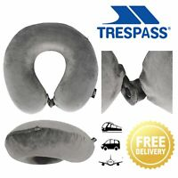 Trespass Travel Pillow Memory Foam Neck Support Cushion For Camping Cars & Plane