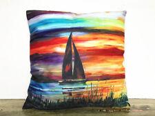 SAILBOAT Printing DIY Sofa Bed Home Decor Pillow Case Cushion Cover45/45cm
