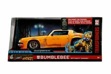 Jada Diecast Metal 1:24 Scale Transformers Chevy 1977 Camero Bumblebee  Presell