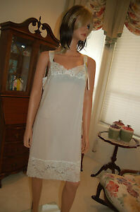 NYLON SHADOWLINE LINGERIE, FULL SLIP FROM THE ORIGINAL COMPANY  IN SIZES #27723