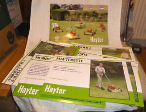 Original Hayter full line brochure with pull outs for the early 1980's