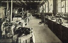 Advertising, Vintage Cars: Shop Interior, Post Garage Co, Middletown, NY Pre-20