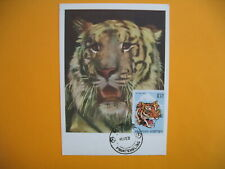 Card Maximum Bhutan - Carte Maximum Bouthan - Tiger - Tigre