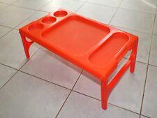 + Plateau de lit plastique orange - Twopo design Henry Wang - Taiwan années 70 +