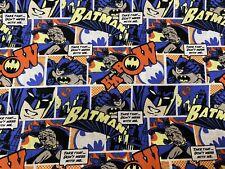 Batman Comic Strip 100% Cotton Fabric By The 1/4 Yard