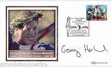 2004 Athens Olympics - Benham GB Medal Winners Silk - Signed GEORGINA HARLAND