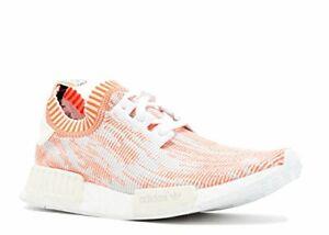 Adidas Men's NMD_R1 Primeknit Shrimp Glitch Camo White/Solar Red Sz 6.5 BA8599