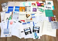 Large Mixed Lot Vintage Apple Macintosh Software Papers Mac Plus Era ASIS m