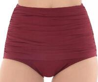 NWT Miraclesuit Women's Swimwear Norma Jean Retro Bikini Bottom Red Size 16