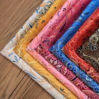 Jacquard Damask Fabric Brocade Cloth Floral Costume Furnishing Material DIY Sew