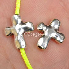 30pcs Tibetan Silver cross loose Spacer Beads charm BEAD  fit jewelry 14mm A3564