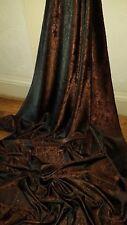 """5 M Due Tonalità Marrone Paisley Print Dress/fodera in tessuto broccato 58"""""""