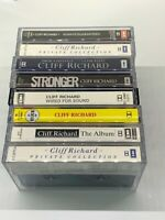Job Lot Cliff Richard Album Cassettes x 8 - New cases