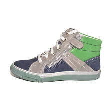 Richter Boys 62447317201 Grey Blue Green Lace Zip FitMi Trainers UK 1 EU 33
