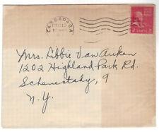 1953 Cassadaga NY Cover Chautauqua County Christmas Seal