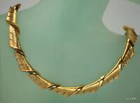 Crown Trifari Necklace Choker Vintage Gold Tone Statement Runway Jewelry *
